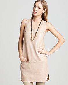 Vince - Leather Tank Dress
