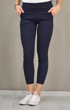 Γυναικείο παντελόνι leggings PANT-5030-bl | Γυναίκα Παντελόνια Pants, Fashion, Trouser Pants, Moda, Fashion Styles, Women's Pants, Women Pants, Fashion Illustrations, Trousers