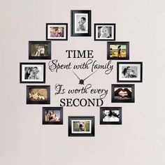 Time Spent with Family is Worth Every Second Wall Decal only at www.betsydecals.com