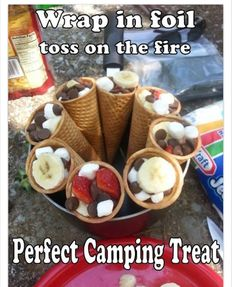 RV And Camping. Great Ideas To Think About Before Your Camping Trip. For many, camping provides a relaxing way to reconnect with the natural world. If camping is something that you want to do, then you need to have some idea Receta Bbq, Campfire Food, Bonfire Food, Bonfire Ideas, Campfire Deserts, Fall Bonfire Party, Backyard Bonfire Party, Bonfire Birthday Party, Birthday Toast