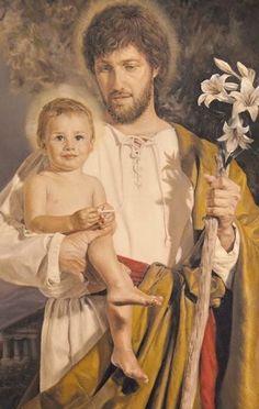 SAN JOSÉ Y SU PEQUEÑO JESÚS