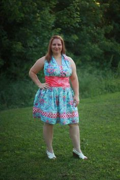 Lexie's Boutique Women's Retro Halter Dress PDF Pattern