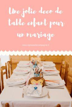 Décoration de mariage: table des enfants