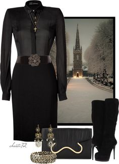 """""""Christmas Eve Church Service"""" by christa72 ❤ liked on Polyvore"""
