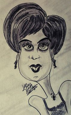 Urban girl caricature