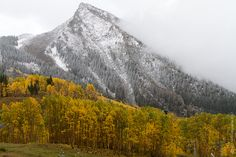 First Snow fall of 2012 Crested Butte Mountain !