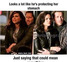 Or he's just trying to hold her back...but whatever