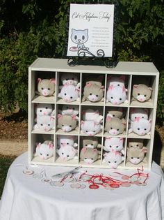 adopt a cat station   Hostess with the Mostess®- I won't do this, but wow is this so cute!
