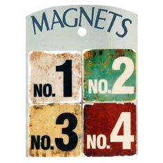 4 Piece Numbers Magnet Set