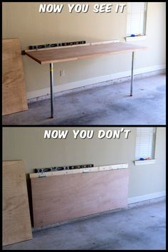 fold down garage workbenches space saving cheap used doors as