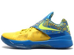 cheap for discount 5462c 68ca5 Nike Zoom KD IV Scoring Title Tour Yellow Lemon Twist Photo Blue 473679 703 Kevin  Durant Shoes 2013