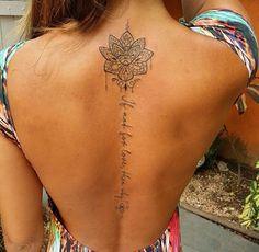 Back tattoo ideas Mini Tattoos, Trendy Tattoos, Sexy Tattoos, Body Art Tattoos, Cool Tattoos, Tatoos, Best Tattoos For Women, Back Tattoo Women, Back Tattoos Spine