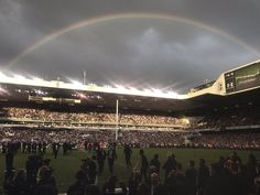 A rainbow over White Hart Lane as the curtain comes down on the ground after 118 years. 14/05/17