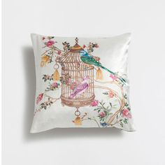 ~ Living a Beautiful Life ~ CAGE PRINT VELVET CUSHION COVER