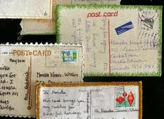 My Sweet Prairie: POST CARDS on Canadian Quilt Talk Radio  This also has a good tute for making these.