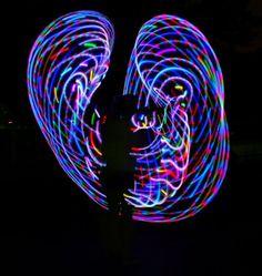 Hooping is a regular hobby of mine. I love my bright rainbow LED light up hula hoop from MoodHoops.com!! #hula #hooping. #neon #bright #lightshow #edm #rave #plur #love #rainbow #dance #hoop #dancing #lights