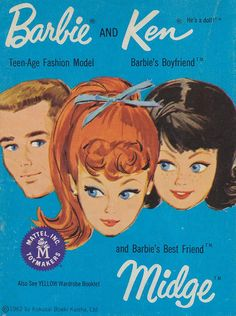 Barbie and Ken and Midge Fashion Blue Booklet, 1962