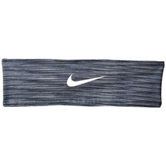 Nike Adjustable Fury Headband (Dark Grey/Wolf Grey/White) Athletic... ($18) ❤ liked on Polyvore featuring accessories, hair accessories, white hair accessories, sport headbands, hair bands accessories, nike and hair band headband