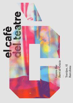Fuente: behance.net #bim #graphic design #design graphique #poster #affiche #trame #bitmap #typography #typographie