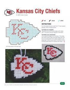 KANSAS CITY CHIEFS ORNAMENT/MAGNET