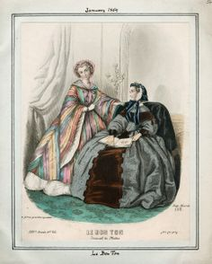 Le Bon Ton, January 1859. Although a couple of years early for the Civil War, I need that technicolor coat!!!!