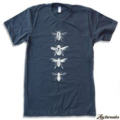 Mens BEES american apparel T Shirt All Sizes S M L by ZenThreads, $18.00