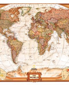 World Executive - NGS, Buy Antique Look World Map - Mapworld