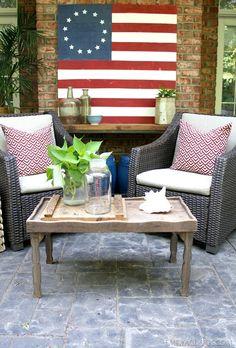 DIY Painted American Flag