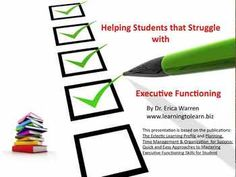 Come watch this free video on helping students with Executive Functioning!