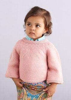 Round Yoke Baby Sweater Pattern (Knit)