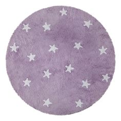 Handgetufteter Teppich Cielo in Lila Lorena Canals Teppichgröße: Rund 47 cm Kids Area Rugs, Baby Room Colors, Lorena Canals, Baby Room Design, Purple Area Rugs, Textiles, Washable Rugs, Round Rugs, Throw Rugs
