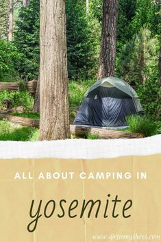 Camping in the national parks should be on everybody's bucket lists! It's the best way to turn your family vacation into an adventure! That's why I made this travel guide All About Camping in Yosemite National Park. Whether you are tent camping, pulling a trailer, a camper, or are in an RV, I'll help you pick the best campground for your road trip. All you need now is a campsite, to start your camping trip and get outdoors with your family, friends, and kids! Beautiful Places In America, Beautiful Places To Visit, Cool Places To Visit, Yosemite Camping, Tent Camping, Campsite, California National Parks, Yosemite National Park, Best Campgrounds