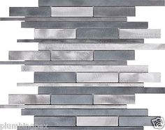 Grey & Silver Brushed Aluminum Kitchen Bath Backsplash Mosaic Tiles-11 Sheets in Home & Garden,Home Décor,Tile Art | eBay