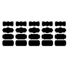Blackboard Muursticker, Afneembare, verschillende vormen van Black Memo – EUR € 12.99
