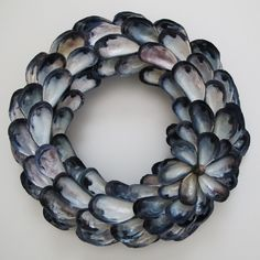 Wreath made of mussel shells.