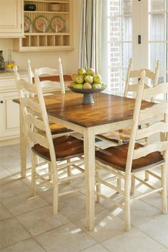 Bramble round dining table and six ladder back chairs. | Trovato ...