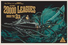 20,000 Leagues Under the Sea poster by Ken Taylor / Mondo