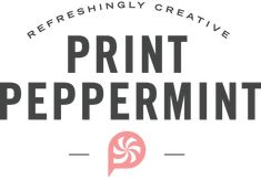 Print Peppermint- Hot Stamped Gold Foiled Cards
