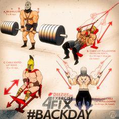 4 Back Exercises to get bigger back #shrugs #pulldowns #300 #rows #backworkout