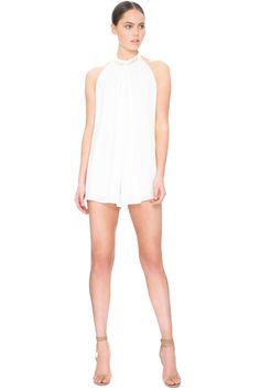 KEEPSAKE HURRICANE PLAYSUIT IVORY - BNKR