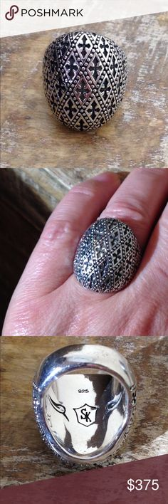 SCOTT KAY Sterling Silver Fleur de Lis Ring Sz 7 Gorgeous ring, solid and heavy, size 7. Scott Kay Jewelry Rings