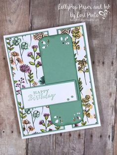 Detailed With Love Stamp Set & Detailed Trio Punch Available June 1st. Happy Birthday #floral #birthday #loripinto #lollypoppaper