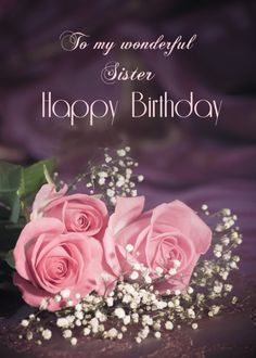 For secret pal, Happy birthday with roses card. Personalize any greeting card for no additional cost! Cards are shipped the Next Business Day. Happy Birthday To Niece, Happy Birthday Neighbor, Birthday Wishes For Grandma, Birthday Greetings For Daughter, Birthday Wishes Flowers, Happy Birthday Wishes Images, Birthday Blessings, Happy Birthday Greetings, Funny Birthday