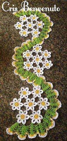 trilhos de mesa em croche com flores   trilho-de-mesa-flores-espiral-trilho-de-mesa-em-croche