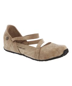 Love this Tan Mallory Closed-Toe Suede Sandal - Women on