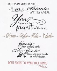 Bathroom Sign Sayings powder room vinyl wall lettering for themorningwoodstudio