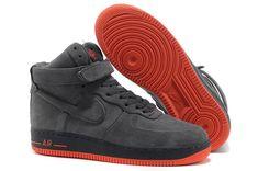 air force 1 hombre negras y rojas