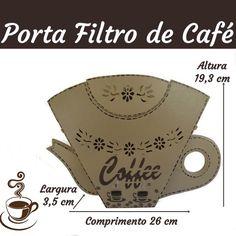Porta filtro de café em mdf | Encanto di Artesanato peças em MDF | Elo7