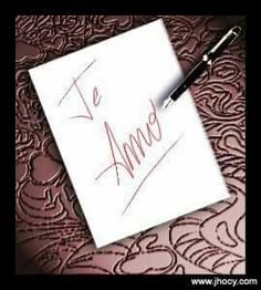 Te amo I Love You, Notebook, Words, Languages, Spanish, Lyrics, Wisdom, Quotes, Frases