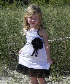 Loving this Licorice & White Smocked Dress - Toddler & Girls on #zulily! #zulilyfinds